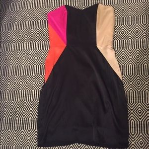NWT strapless 100% silk mini dress